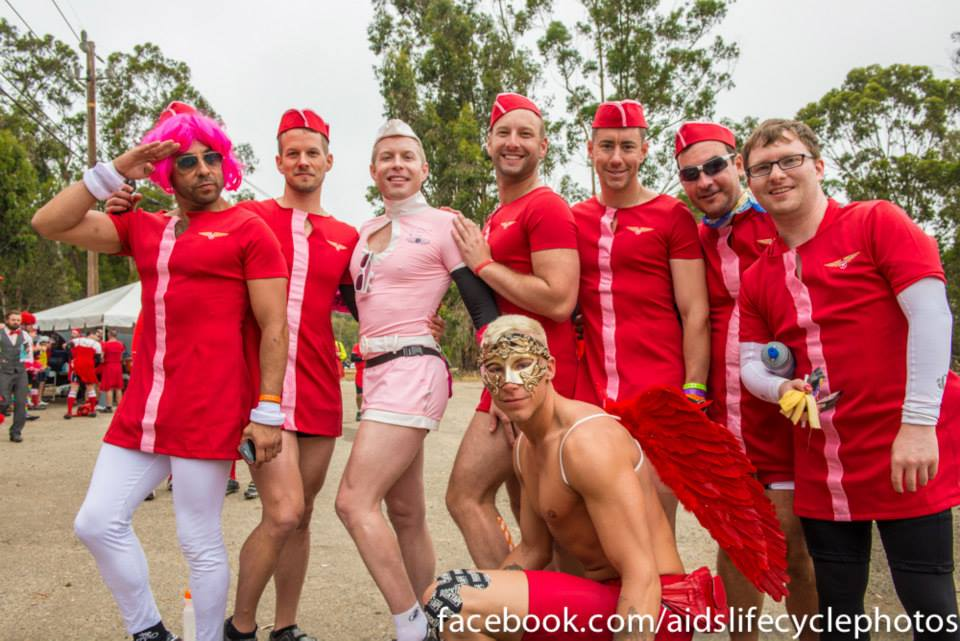 It&-39-s red dress day for AIDS LifeCycle riders!