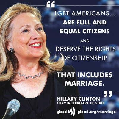 from Ronald hillary clinton gay marriage