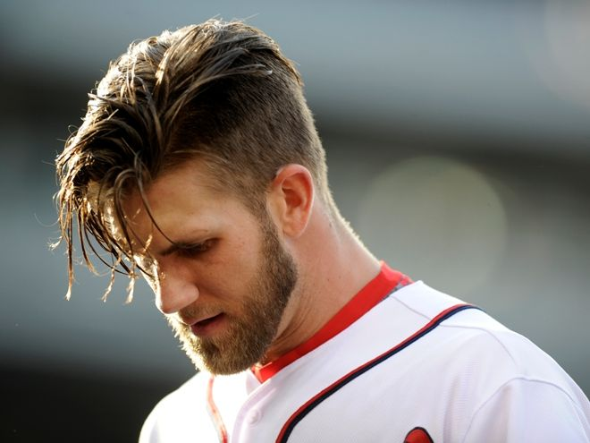 Glorious Bryce Harper Hair Flip