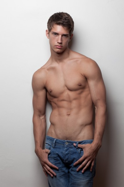 Male model masturbating