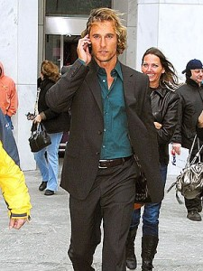 Monday Morning Man Matthew McConaughey