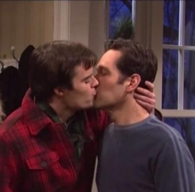 Gay twins kissing