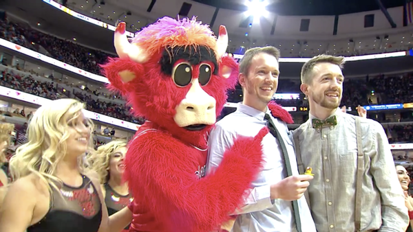 Watch An Adorable Gay Couple Get Engaged During Halftime Of Chicago