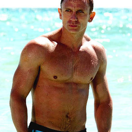 A shirtless shrine to studly Daniel Craig to mark today's ...
