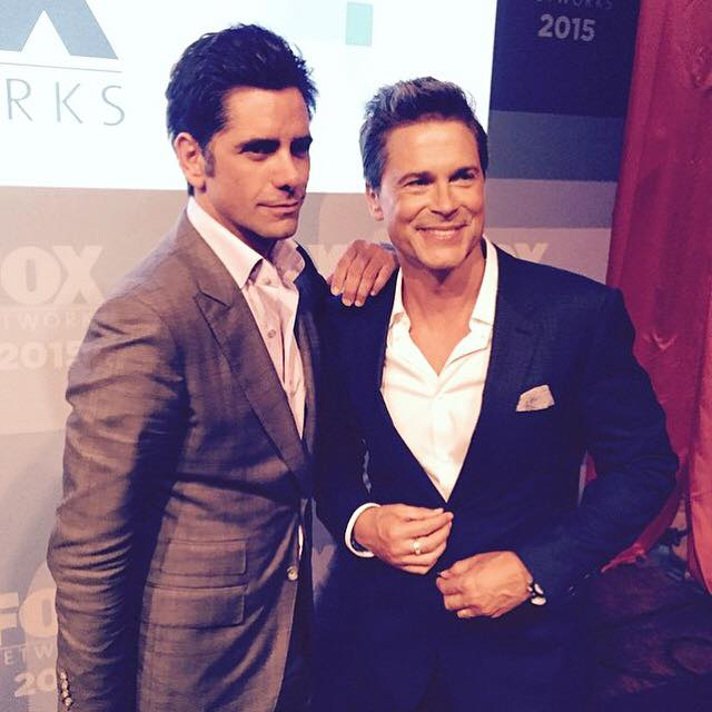 Snapped! John Stamos and Rob Lowe together!